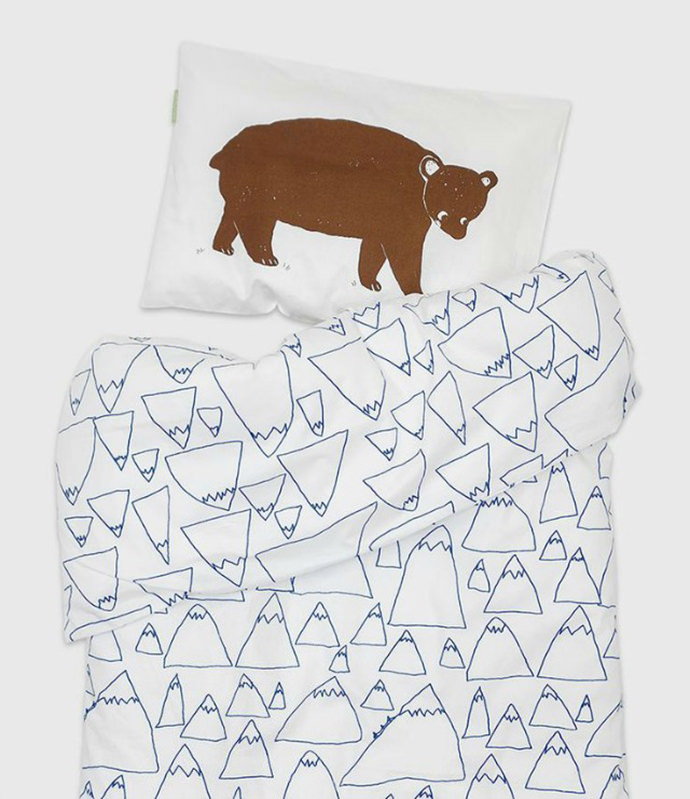 Bruno and Mountains Crib Bedding Set