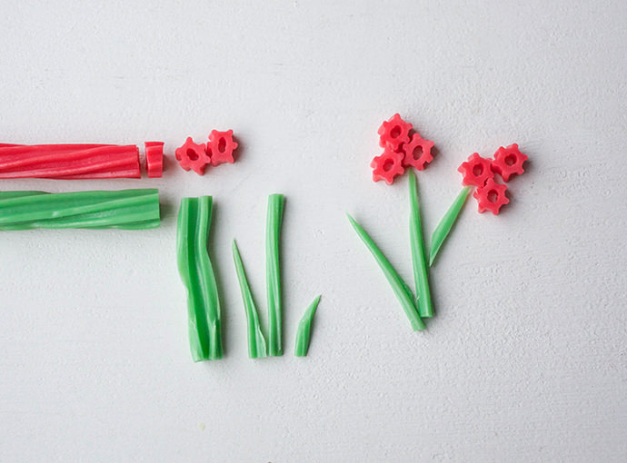 Twizzler Flower Cake Decorations