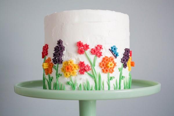 Twizzler Flower Cake