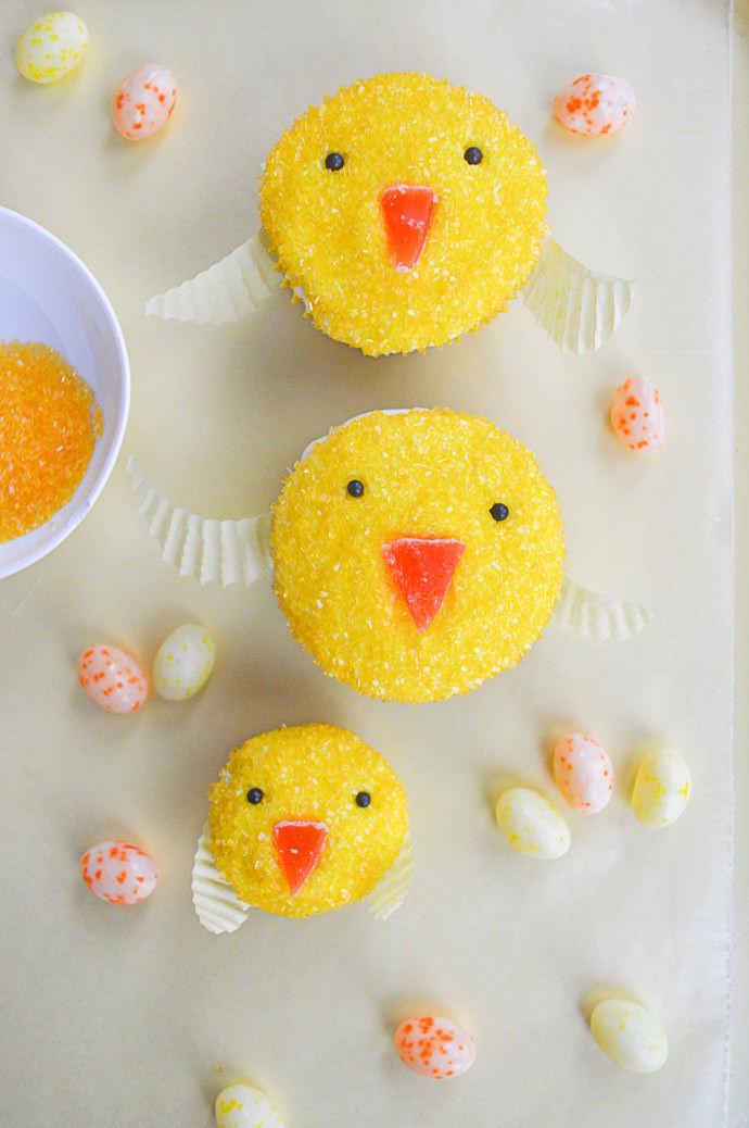 Easy Easter Chickadee Cupcakes Recipe