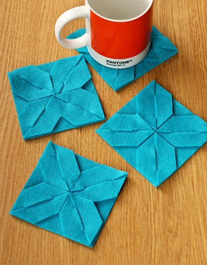 Easy DIY Modular Felt Coasters