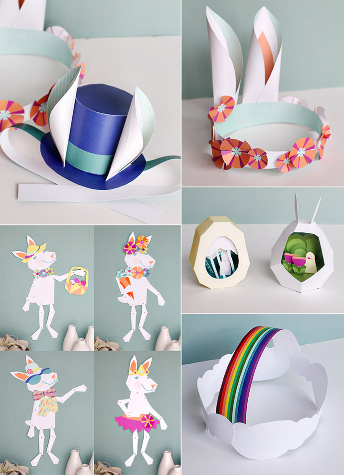 Printable Easter Paper Crafts from Smallful