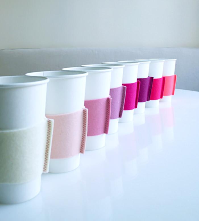 DIY felt coffee mug wrap