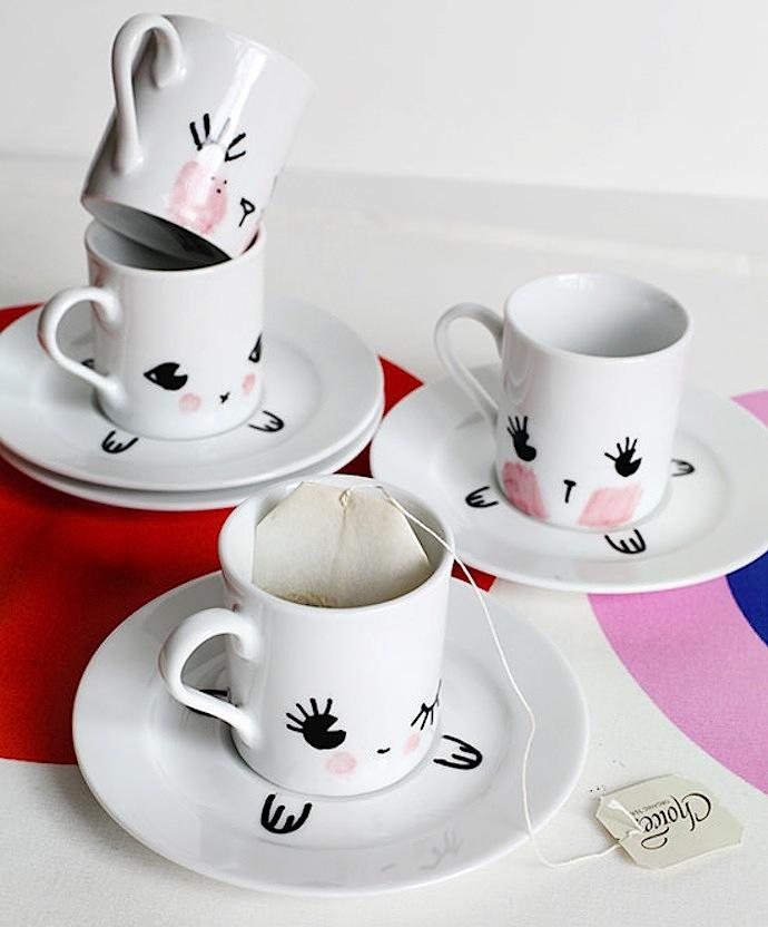 Cute DIY animal tea party set