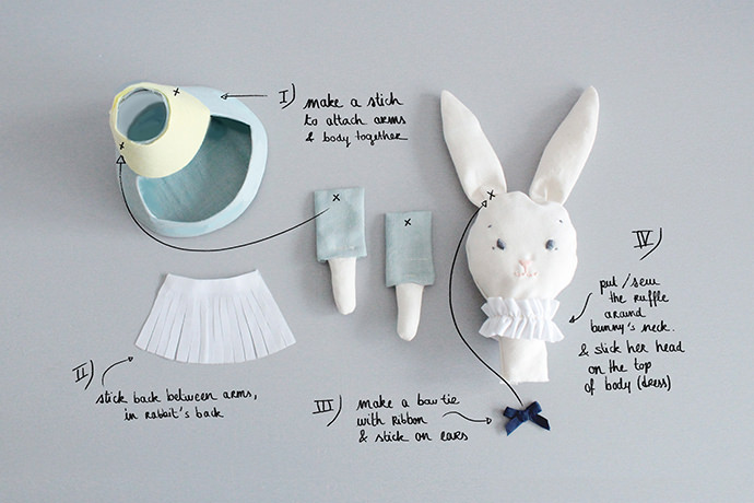 Easy-Sew Easter Bunny Candy Holder Tutorial