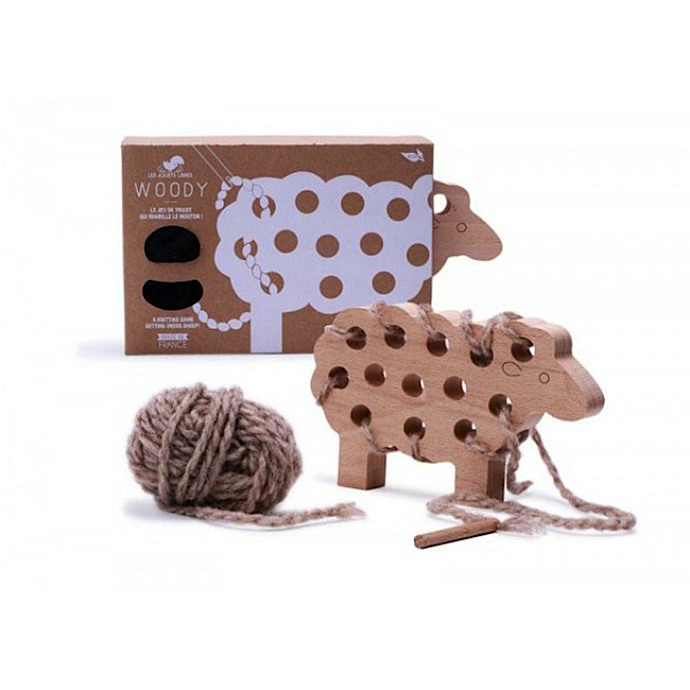 Wooden Sheep Knitting Kit