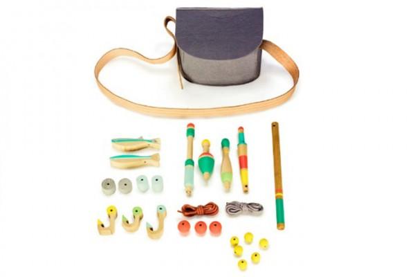 Wood Toy Fishing Kit