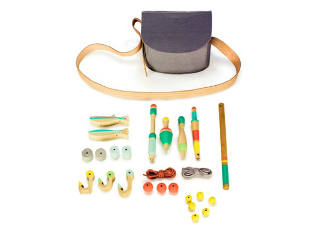 Wooden Toy Fishing Kit