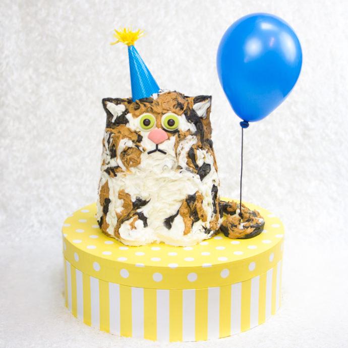 Easy Cat Birthday Cake for Kids
