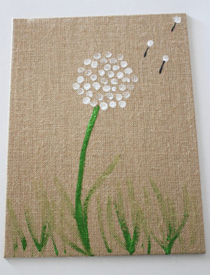 Fingerprint Dandelion Art