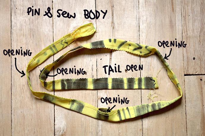 Easy-Sew Stuffed Snake Belt