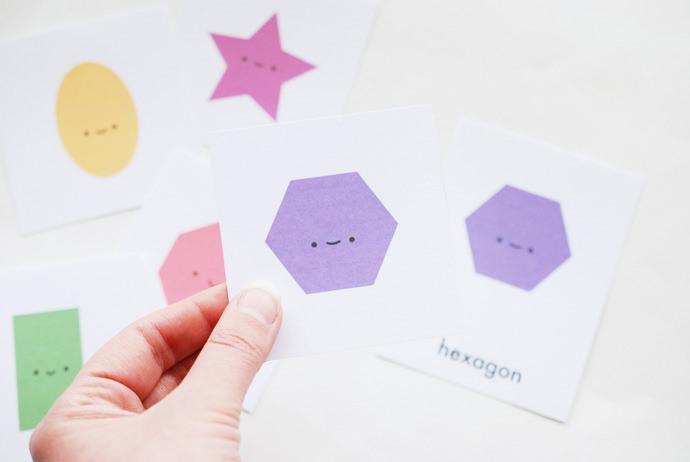Printable Shape Matching Game
