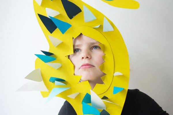 Seahorse paper mask for kids