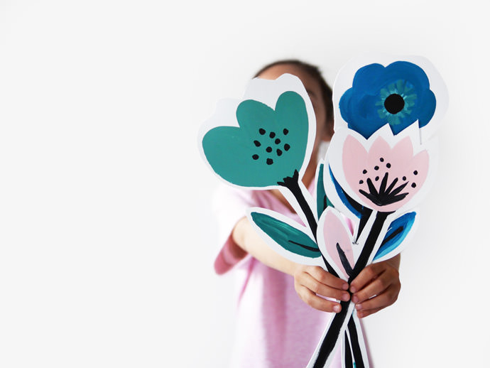 Make A Bouquet of Flower Cards for Mother's Day