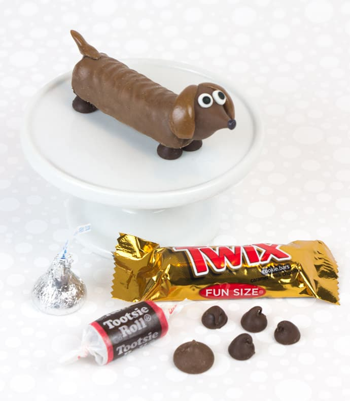 Easy Chocolate Party Pups Tutorial Made From Candy Bars