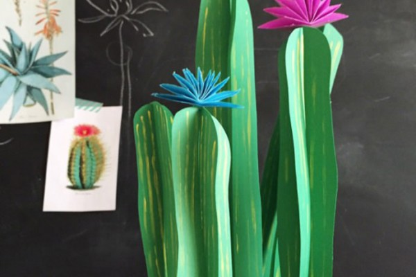 Paper Cactus Craft for Kids