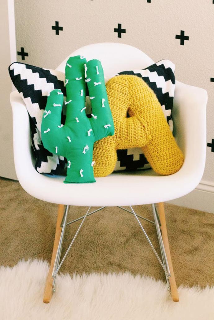 Easy-Sew Cactus Pillow Tutorial