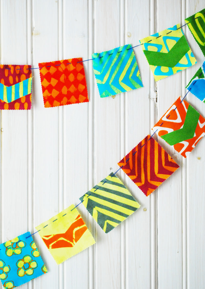 Simple-Stitch DIY Mini Flag Banners