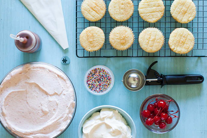 DIY Ice Cream Sundae Cupcakes