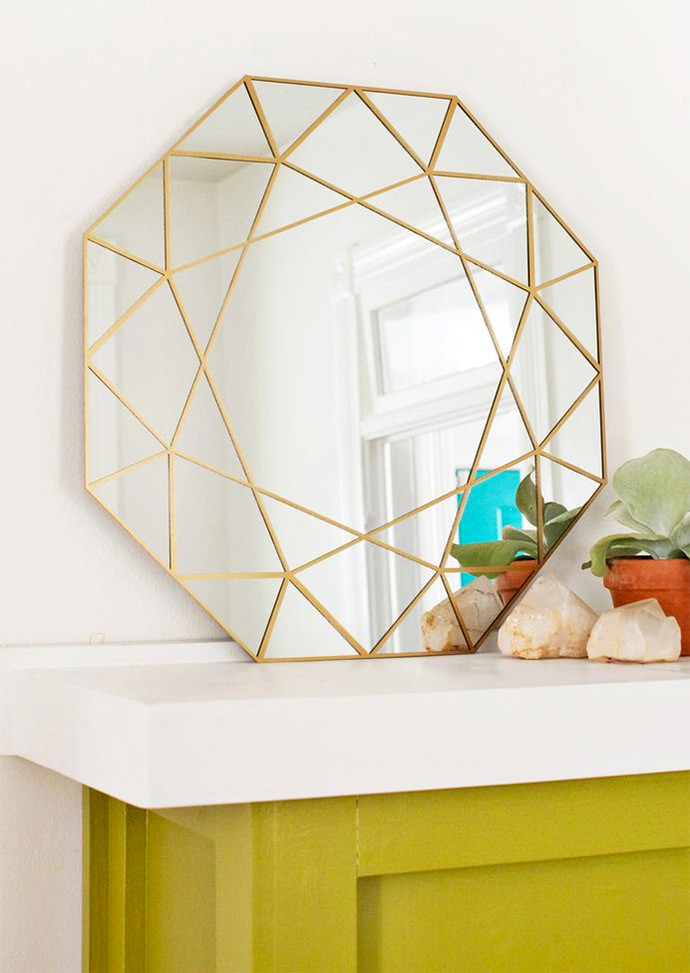 DIY Gem Mirror via A Beautiful Mess