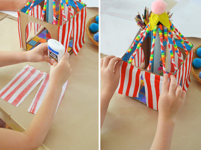 DIY Colorful Cardboard Circus Tents