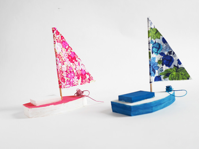 Summer Crafts for Kids: Wooden Sailboat Toy