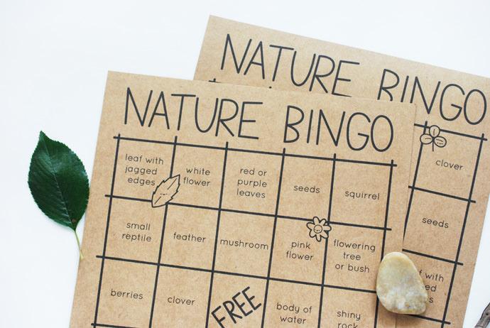 Print & Play Nature Bingo for Cute & Fun Time Outdoors