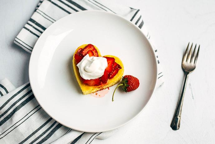 Heart-Shaped Strawberry Shortcakes