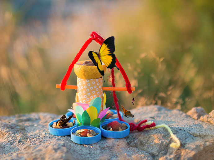 DIY Up-cycled Butterfly Feeder