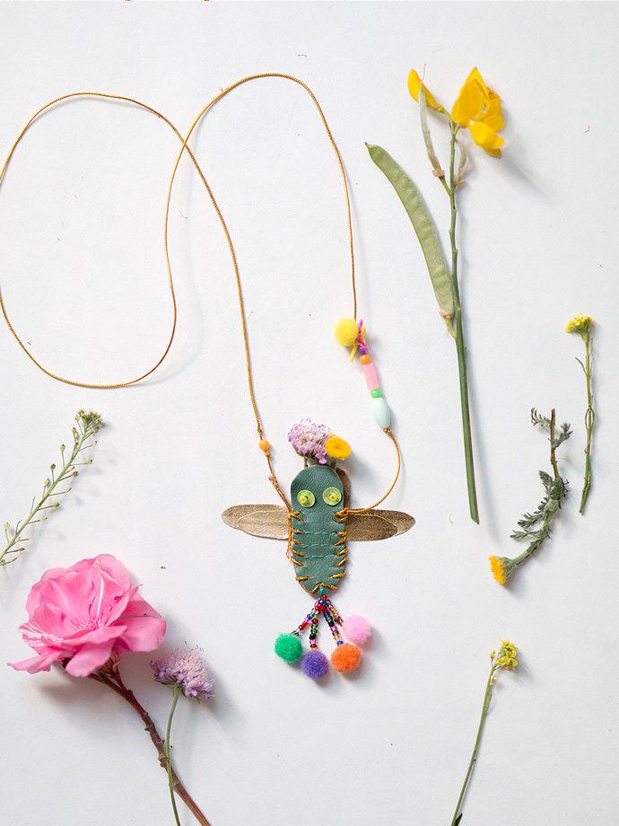 DIY Dragonfly Necklace