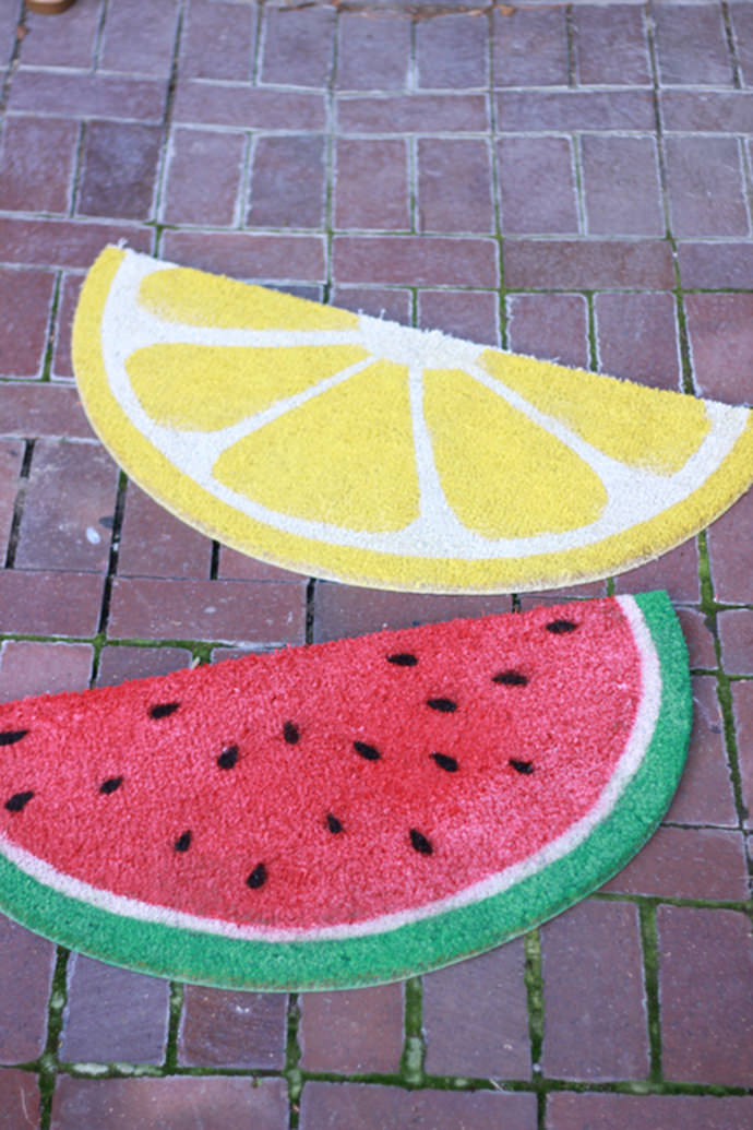 DIY Fruit Welcome Mats