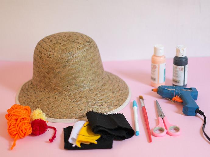 Materials for a DIY Sunhat