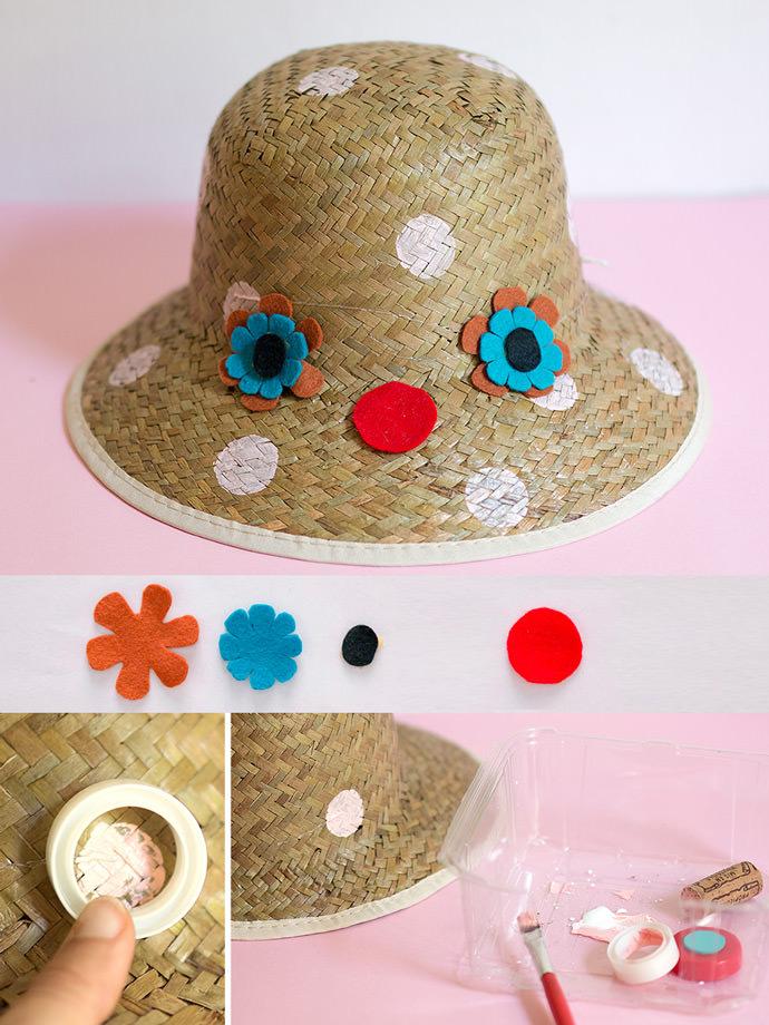 DIY Flower Sunhats