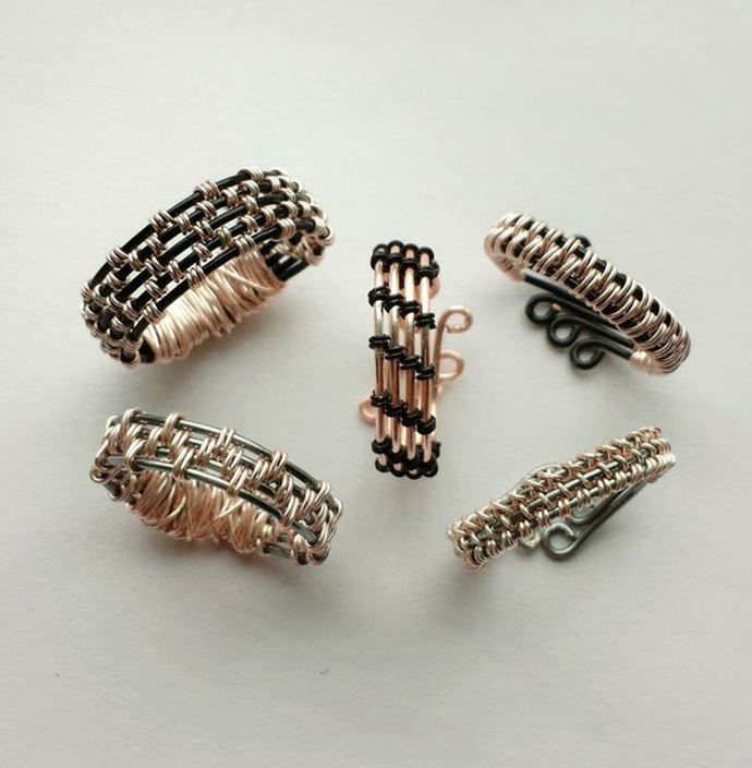 DIY Woven Wire Rings via Instructables