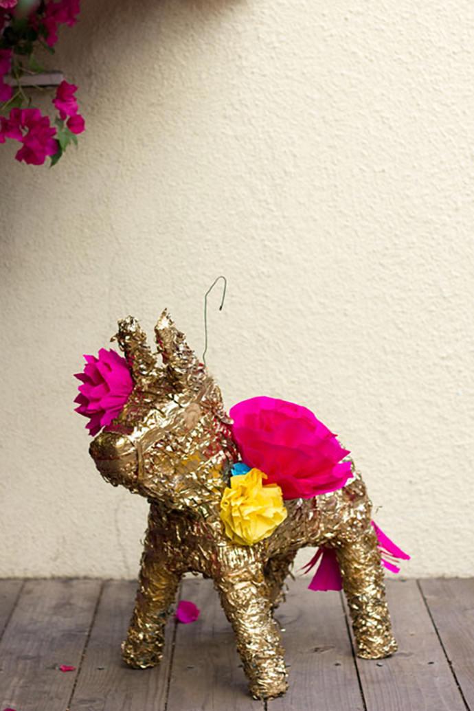 Gilded Piñata via Studio DIY