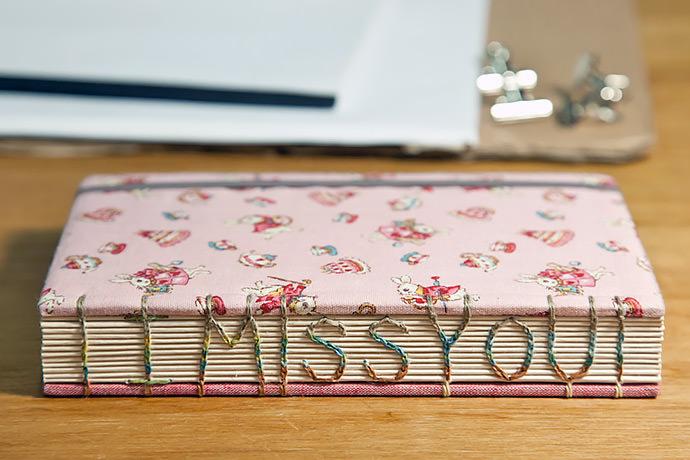 DIY I Miss You Bound Book