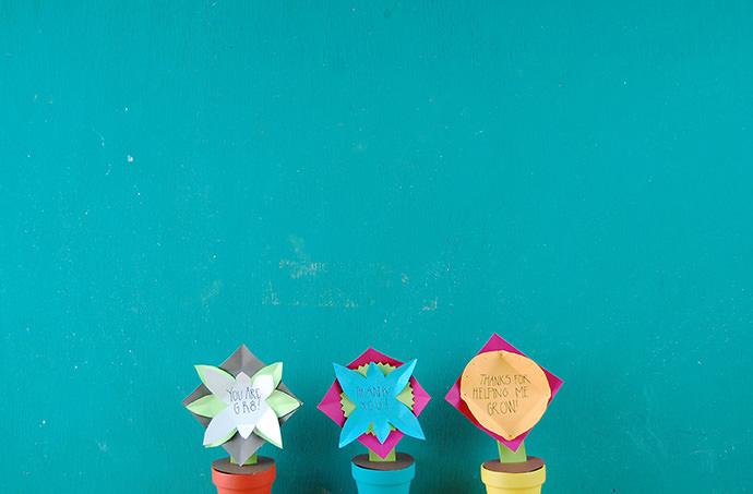 Flower Pot Message