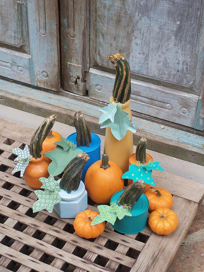 Chalk Paint Up-cycled Pumpkin