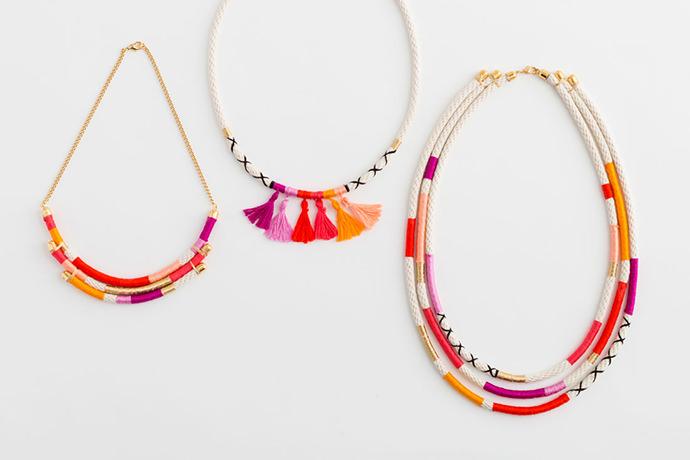 DIY Rope Necklaces via Brit + Co