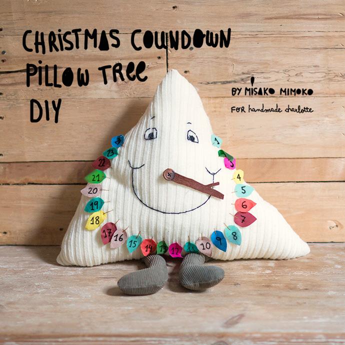 Christmas Countdown Tree Pillow