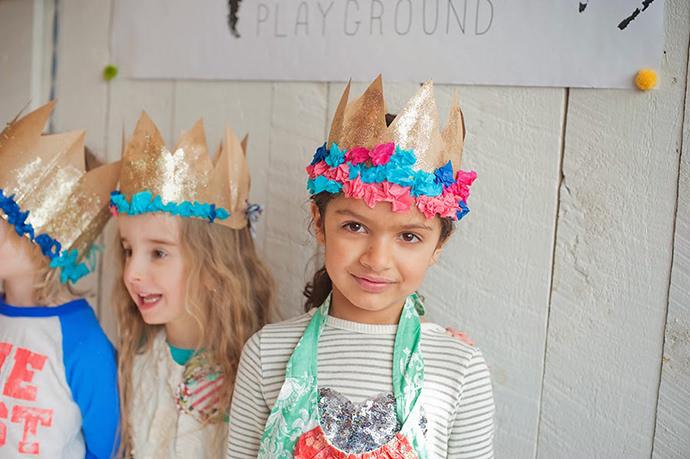 DIY Paper Bag Crowns for Kids