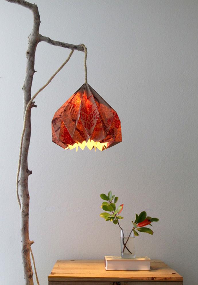 DIY Paper Bag Pendant Lamp