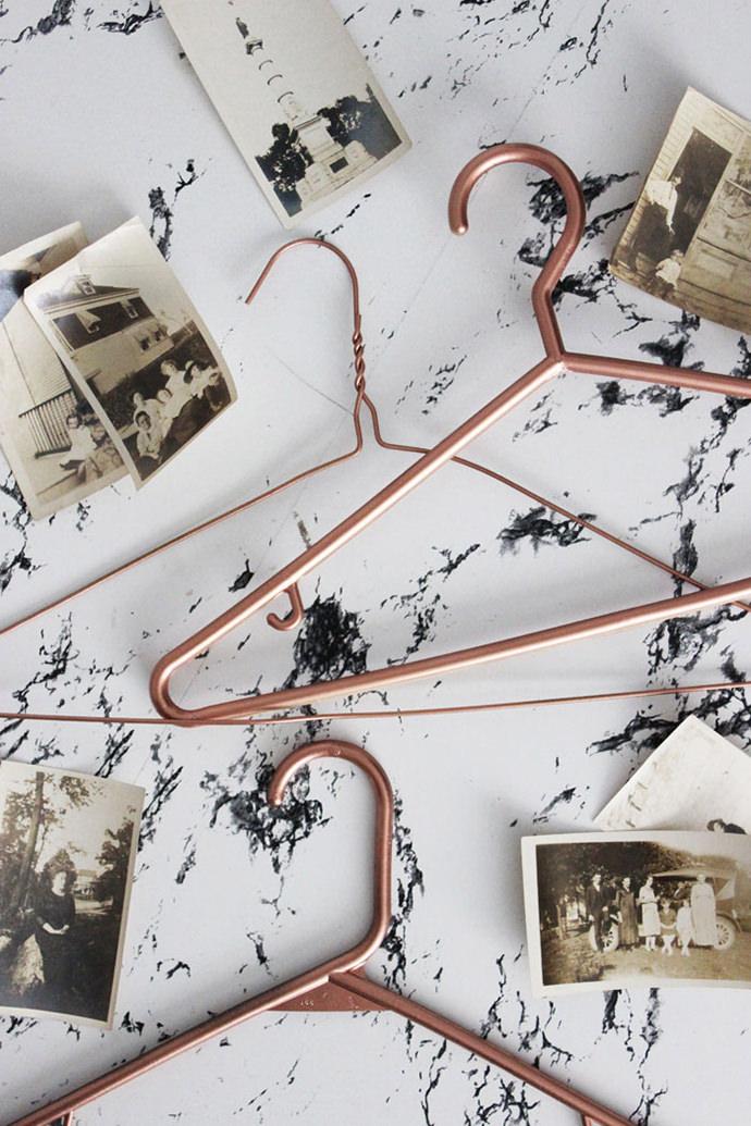 DIY Copper Hangers, tutorial via Poppytalk
