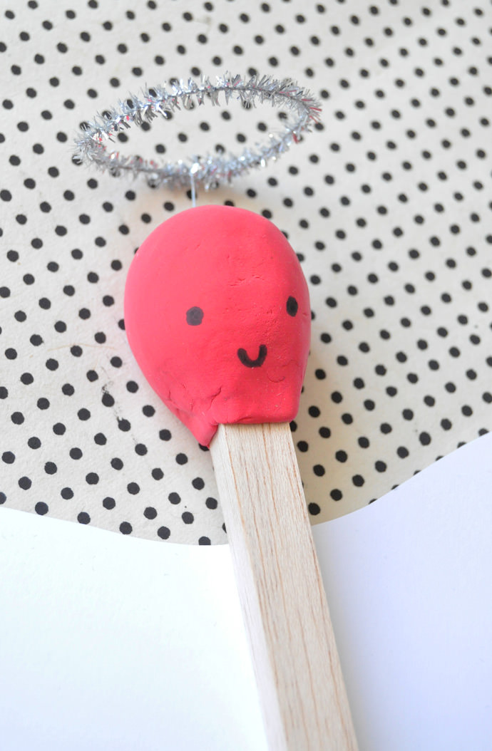 Giant Matchstick Valentine
