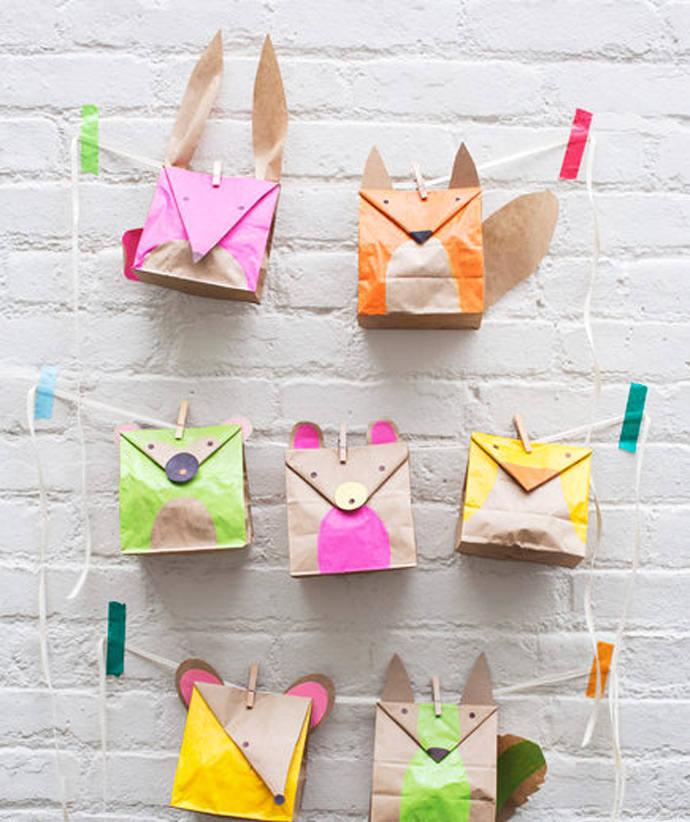 DIY Paper Bag Animal Favors