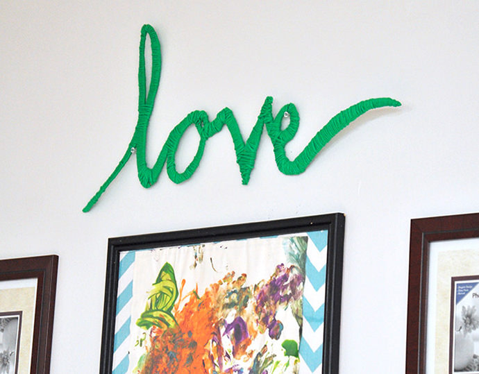 Love Wall Art, tutorial via DIY Candy