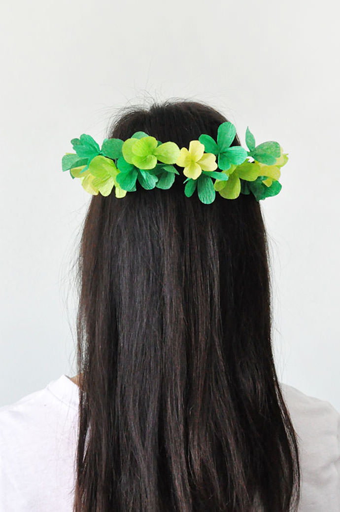 Clover Crown, tutorial via Oh Happy Day