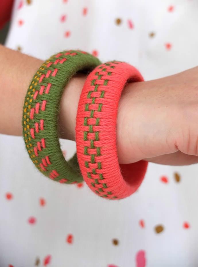 Yarn Bangle, tutorial via My Poppet