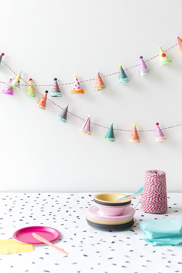 Party Hat Garlands, tutorial via The House That Lars Built