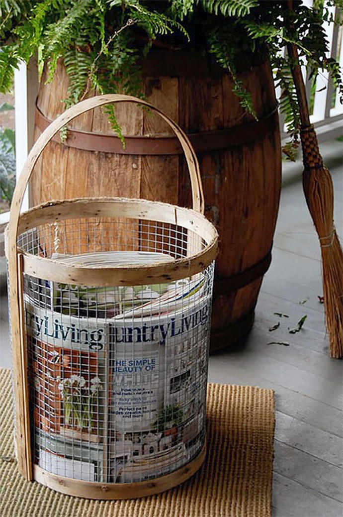 DIY Wire Basket, tutorial via The Art Of Doing Stuff